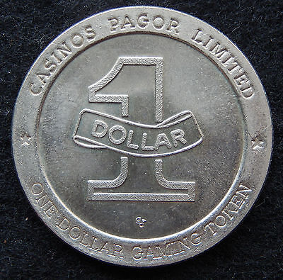 Casinos Pagor Limited One Dollar Gaming Token Coin SB3606