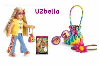 American Girl BEFOREVER Julie Doll and Book and Julie's Accessories NEW