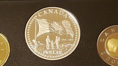 2015 Canada Limited Proof Set with Silver Dollar and Colored Quarter