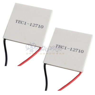 2 PCS TEC1-12710 Thermoelectric Cooler Peltier 100W 40*40mm