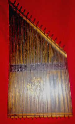 RARE Antique Early Zither Lap Harp Handmade Estate Find Musical Instrument Music