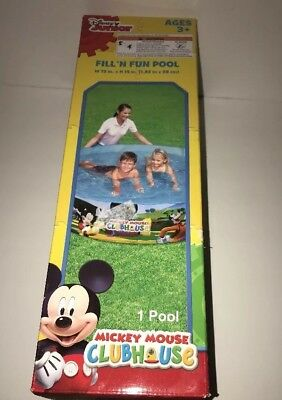 MICKEY MOUSE CLUBHOUSE FILL'N FUN POOL W72 IN. X H 15 IN.  free shipping