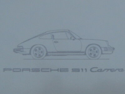 1986 86 Porsche 911 Carrera Dealer Sales  Brochure Vintage Rare Nice Used