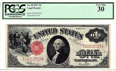 1917 $1  LEGAL TENDER PCGS CURRENCY GRADED VERY FINE 30 -   Fr. 39