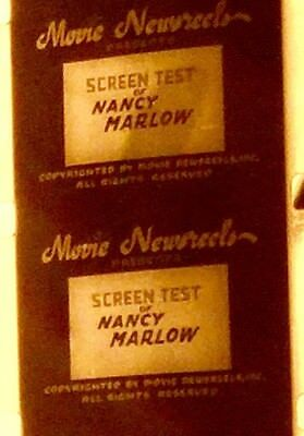 vintage Mid Century b/w movie Nancy Marlow screen test NEWSREEL