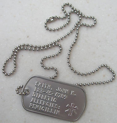 Medical Information Dog Tag Dogtag Personalized  For U
