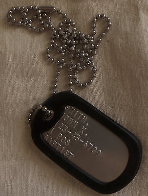 Real Single Standard Military Dog Tag Dogtag Made Just For U