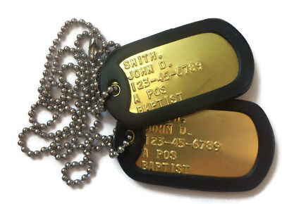 Real Brass Military Dog Tags Dogtags Made Just For U