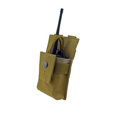 MOLLE Adjustable Radio Holder Walkie Talkie Holster Open Top M4 Mag Pouch