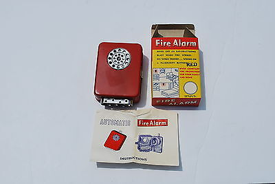 Vintage Canton & Sons Wall Mounted Fire Alarm - Red - MIB - Old Stock New!!
