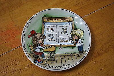 1966 Joan Walsh Anglund November Plate - NICE!!! Pre - Precious Moments