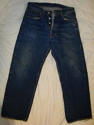 RARE Big E LEVI'S 501 Hidden Rivets Denim Jeans (32 X 28) measured