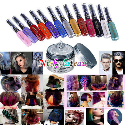 Temporary Dye Colour Mascara Hair Soft Pastel Cream Chalk/Brush or Color Wax NEW