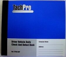 4 Tachpro 50 Page Drivers Daily Vehicle Defect & Check Book In Duplicate