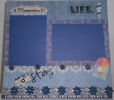 Handmade Scrapbook page - A Good Friend Knows all your Best Stories