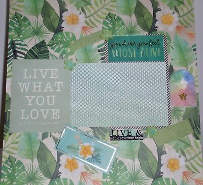 Handmade Scrapbook page - Live what You Love