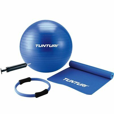 Tunturi Pilates Kit Ball/Mat/Ring - Blue
