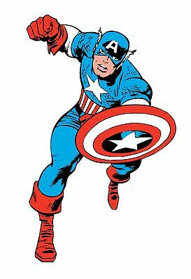Captain America Classie Peel And Stick Giant Wall Decals