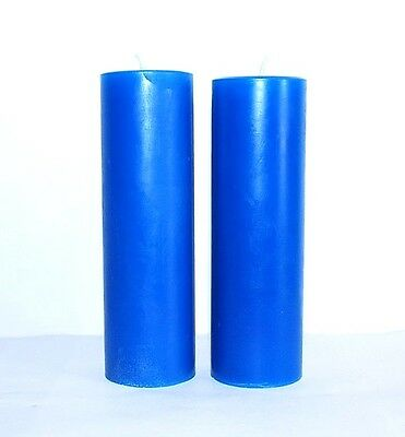 2 scented Pillar Candles Homemade rose lilac lavender Red Blue pick color scent
