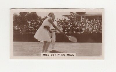Rare tennis Cigarette Card - Betty Nuthall