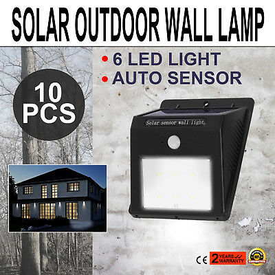 Solar Wall Mounted Motion Sensor Light 10 Pack outside safety security Outdoor