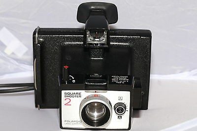 Polaroid Square Shooter 2 Land Camera - Takes Type 80 Pack Film - TESTED & CLA'd
