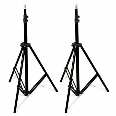2X Photo Studio 210cm Tall Light Stand Tripod for Video Lighting Flash Umb Stand