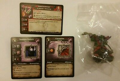 World of Warcraft Miniature Game, Radak Doombringer figure,Core-C and cards, WoW