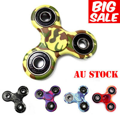 AU 3D Fidget Hand Finger Tri Spinner Focus Stress Reliever Toys For Kids Adults