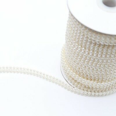 Pearl Twin Trim approx. 8mm Wide Per Meter
