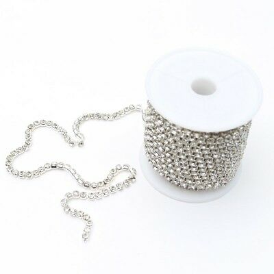 Diamante Chain Silver approx. 3mm Wide Per Meter