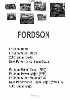Fordson Tractor Repair W/shop Operator Manuals PDF on CD Many Models dexta