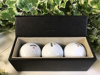 Vintage Set Of 3 Jaeger Golf Balls & Jaeger Golf Ball Case Wilson Ultra 3 & 4