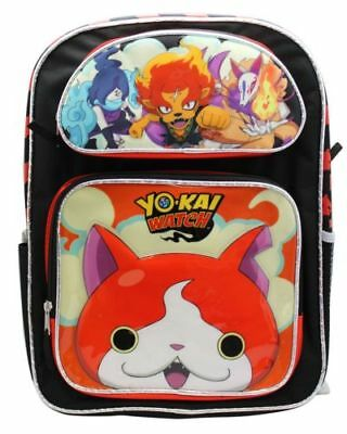 "Yokai Watch Large School 16"" Backpack Boy's Book Bag Authentic License"