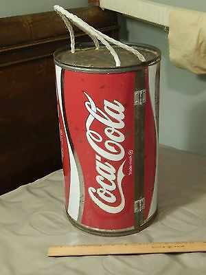 "Coca-Cola~Coke [Round Split Portable Cooler w/ Snap Lock] ECHO ""Dynamic Ribbon"""