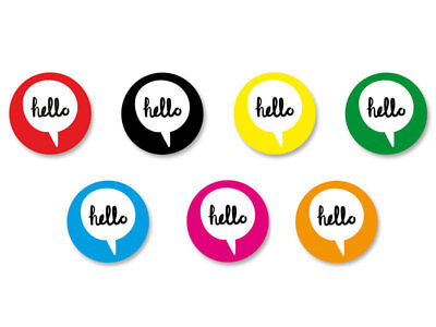 Lot Badge Button Pins Patch Ø38mm Bulle Hello Bonjour Happybulle