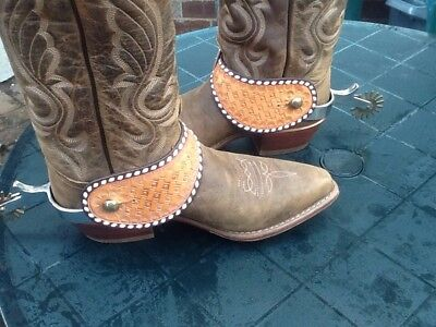 Western Spurs With Leather