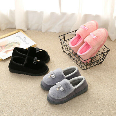 Warm Winter Faux fur Warm Shoes Women Soft Home Slippers Cute Home Indoor Shoes