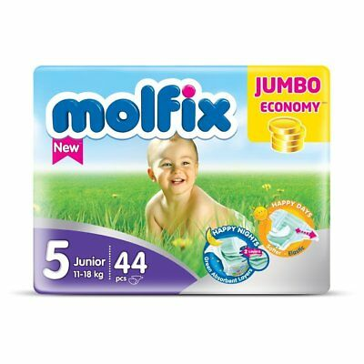 Molfix - Couches Taille 5 (11-18kg/Junior) - Jumbo Economie (x44 couches)