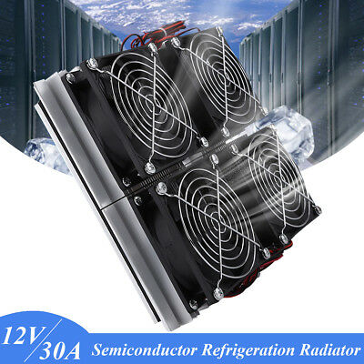 Semiconductor Refrigeration Radiator Thermoelectric 4 Cooling Fan Plate Module