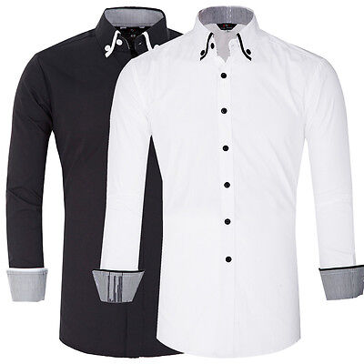 Cheap! Stylish Mens Casual Dress Slim Fit T-Shirts Formal Long Sleeve Shirts Tee