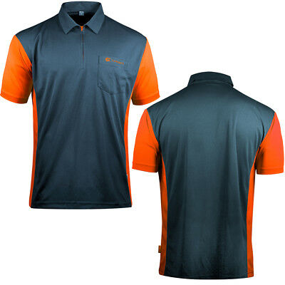 Target Cool Play 3 Dart Shirt - Breathable - Steel Blue with Orange - Small -5XL