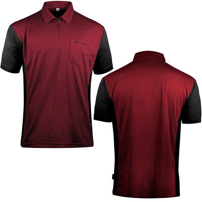 Target Cool Play 3 Dart Shirt - Breathable - Ruby Red with Black - Small - 5XL