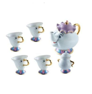 Beauty And The Beast Tea Set [1 Pot +4 Cups +1 Sugar Bowl ] Mrs Potts Chip BB6##
