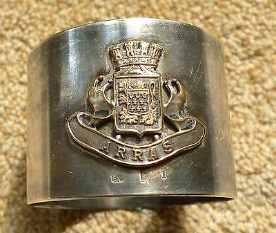 Ww1 Arras Silver Plated? Napkin Ring