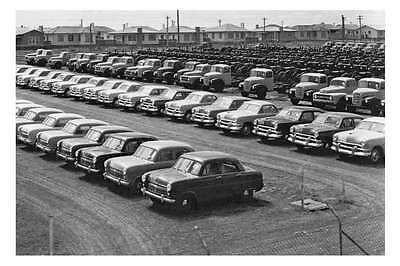 GEELONG - at FORD Motor Plant vehicles just made1952 modern digital Postcard