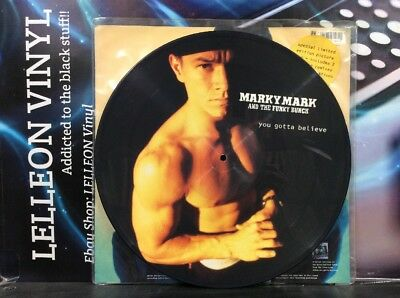 "Marky Mark And The Funky Bunch You Gotta Believe 12"" Picture Disc Vinyl Rap 90's"