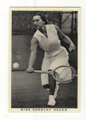 Wills Tennis Card. Dorothy Round