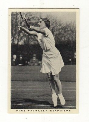 Wills Tennis Card. Kathleen Stammers