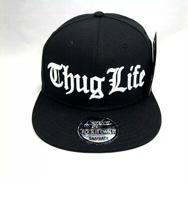 Thug Life snapback cap hat for young generation one sizes fits all